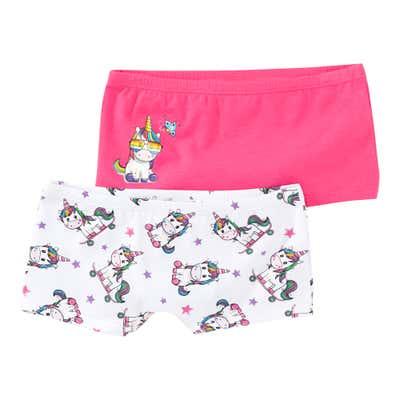 Mädchen-Panty mit Einhorn-Regenbogen-Design, 2er Pack
