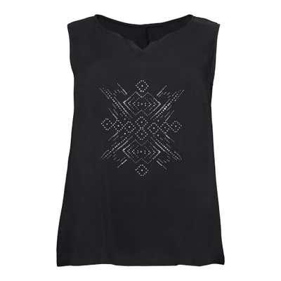 Damen-Bluse mit Schmucksteinchen-Motiv, große Größen