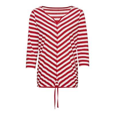 Damen-Shirt mit originellem Streifenmuster