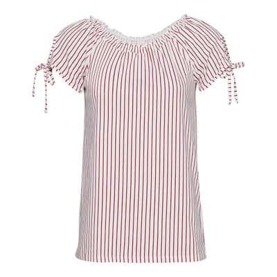 Damen-T-Shirt mit maritimem Streifenmuster