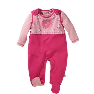 Baby-Mädchen-Strampler-Set aus Baumwolle, 2-teilig