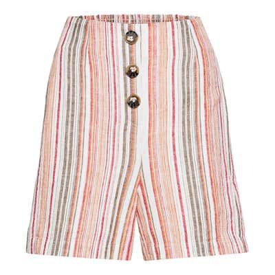Damen-Shorts mit sommerlichem Streifenmuster