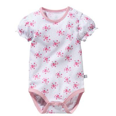 Baby-Mädchen-Body mit Blumenmuster