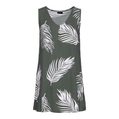 Damen-Top mit Palmblatt-Design