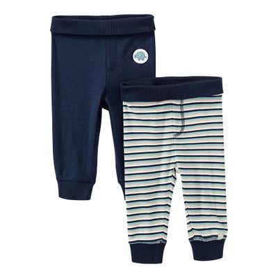 Baby-Jungen-Hose mit breitem Bund, 2er Pack