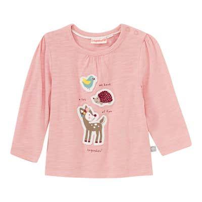 Baby-Mädchen-Shirt mit Tier-Applikationen