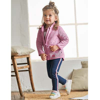 Baby-Mädchen-Leggings mit sportlichen Streifen