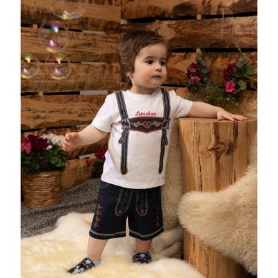 Baby-Jungen-Trachten-Set aus reiner Baumwolle, 2-teilig