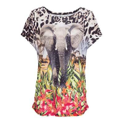 Damen-T-Shirt mit Glitzersteinchen