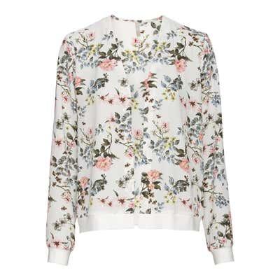Damen-Blusenjacke mit Blumenmuster