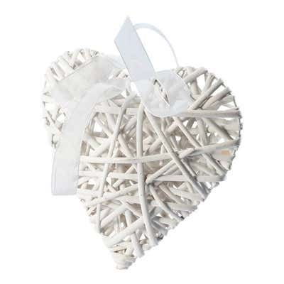 Weiden-Herz mit hübscher Schleife, ca. 19x19cm