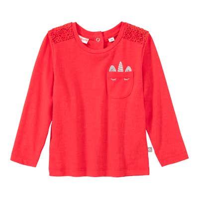 Baby-Mädchen-Shirt mit Einhorn-Brusttasche