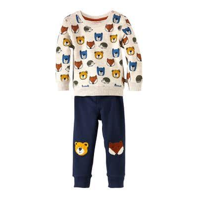 Baby-Jungen-Sweatshirt und -Hose, 2-teilig