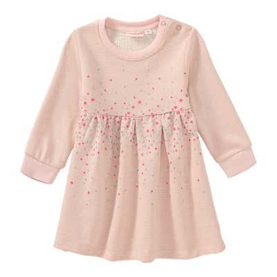 Baby-Mädchen-Sweatkleid mit Glitzerpunkten