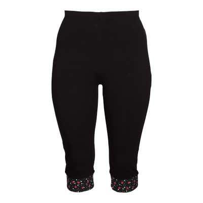 Damen-Leggings mit gemustertem Beinabschluss, große Größen
