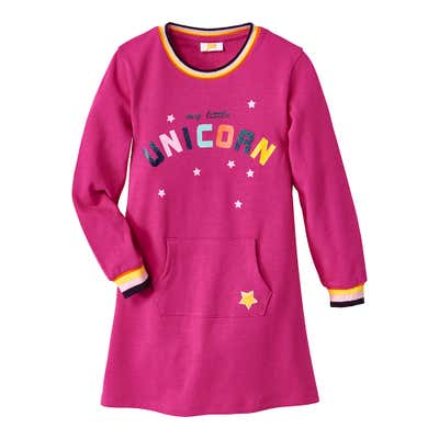 Kinder-Mädchen-Sweatkleid mit traumhaften Sternen