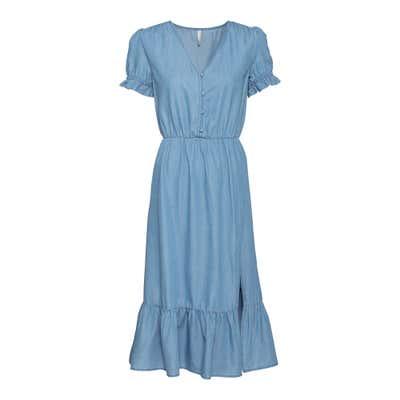 Damen-Kleid mit Volant am Rocksaum