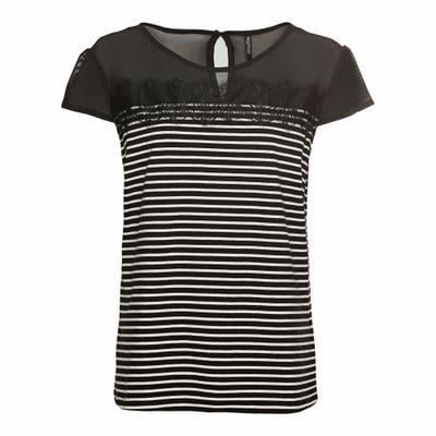 Damen-T-Shirt mit Mesh-Einsatz
