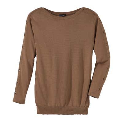 Damen-Pullover mit Nieten