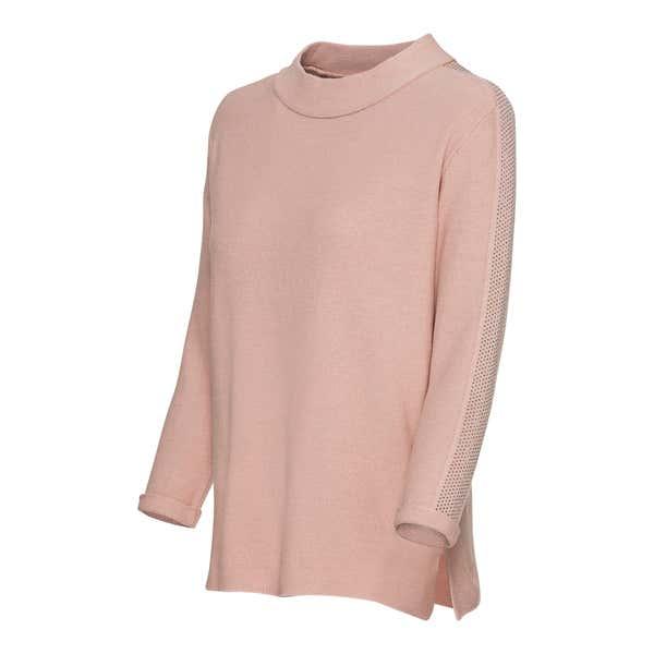 Damen-Pullover mit Ärmelumschlag
