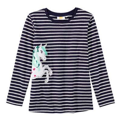 Mädchen-Shirt mit Einhorn-Motiv