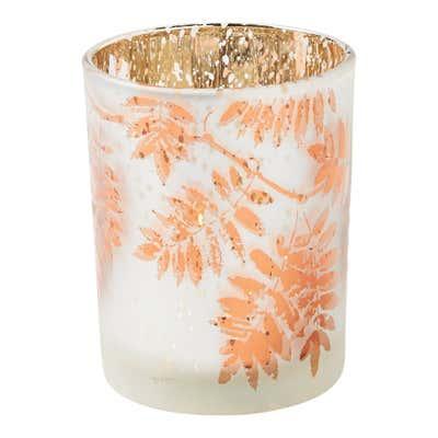 Kerzenglas mit Blattdesign, verschiedene Größen
