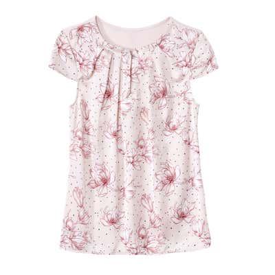 Damen-T-Shirt mit Blüten-Design