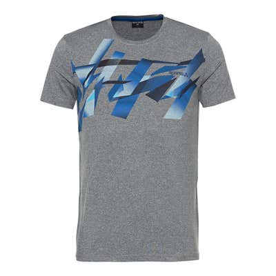Herren-Fitness-T-Shirt in Melange-Optik