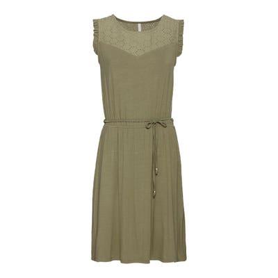 Damen-Kleid mit hübschem Bindegürtel