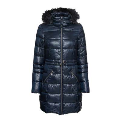 Damen-Mantel mit Kunstfell