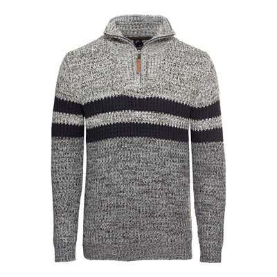 Herren-Pullover mit Kontrast-Streifen