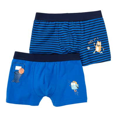 Jungen-Retroshorts mit Monstermotiven, 2er Pack