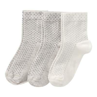 Damen-Socken mit Punkte-Muster, 3er Pack