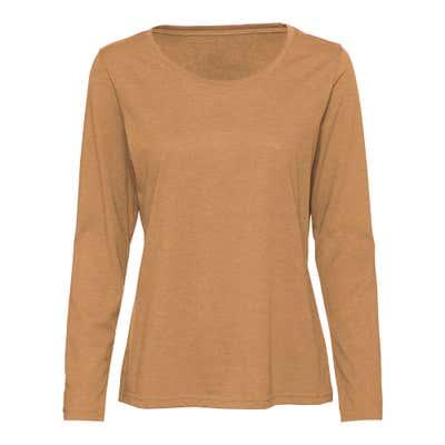 Damen-Shirt in dezenter Melange-Optik
