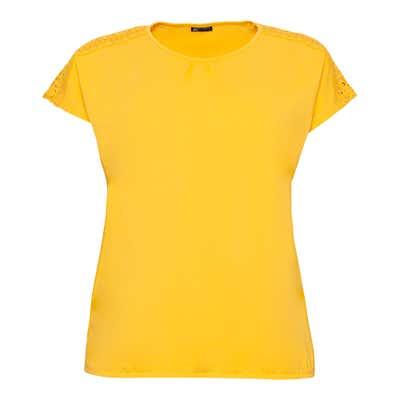 Damen-T-Shirt mit Spitze, große Größen