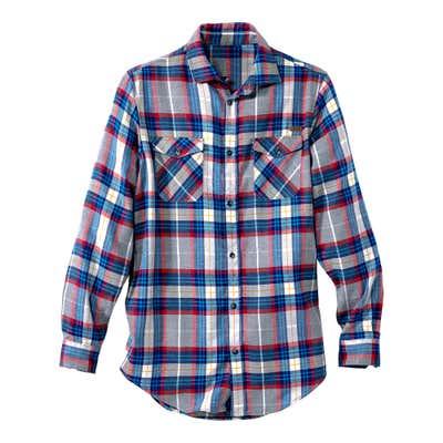 Herren-Flanellhemd mit abgerundetem Saum