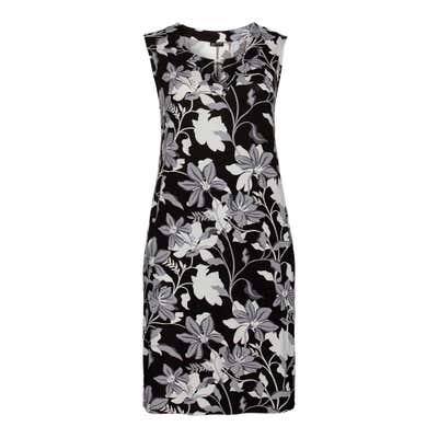 Damen-Kleid mit Blumenmuster, große Größen