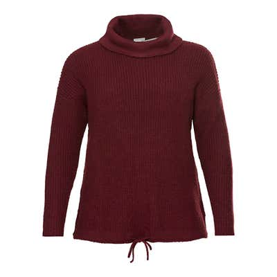 Damen-Pullover mit Strickmuster, große Größen