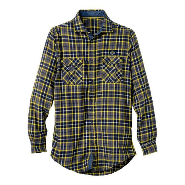 Herren-Flanellhemd mit modernem Karomuster