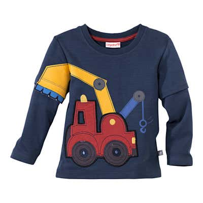Baby-Jungen-Shirt mit cooler Baukran-Applikation