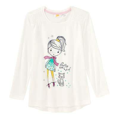 Mädchen-Shirt mit hübschem Frontaufdruck
