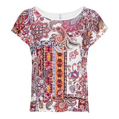 Damen-T-Shirt mit Paisley-Muster