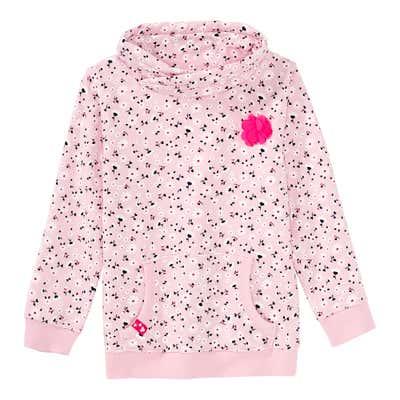 Mädchen-Sweatshirt mit Blumen-Applikation