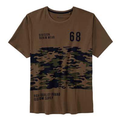 Herren-T-Shirt mit Camouflage-Aufdruck, große Größen