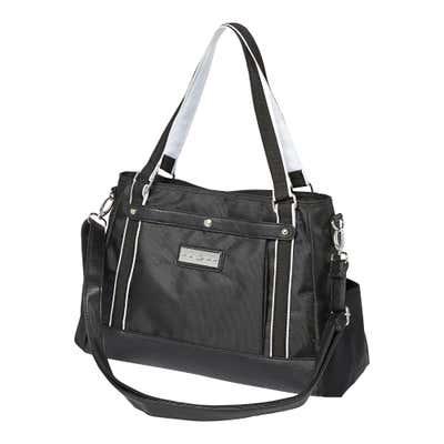 Damen-Handtasche mit Kunstleder-Boden