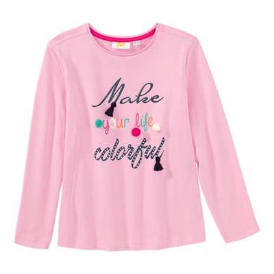 Mädchen-Shirt mit Glitzer-Aufdruck