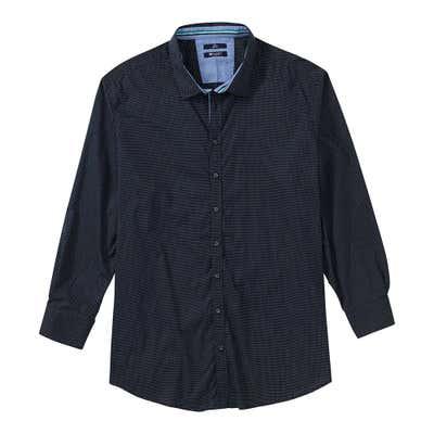 Herren-Hemd mit schickem Muster, große Größen