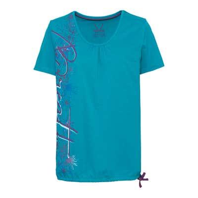 Damen-Fitness-T-Shirt mit Bindebändern am Saum