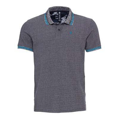 Herren-Poloshirt mit modischen Kontrast-Streifen