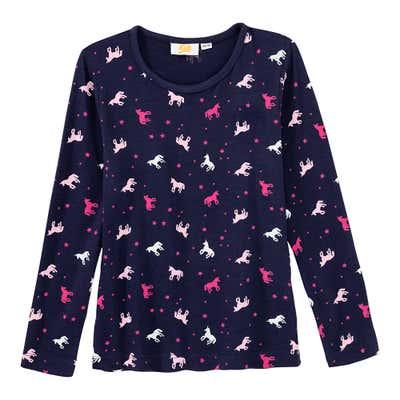 Mädchen-Shirt mit Einhorn-Muster